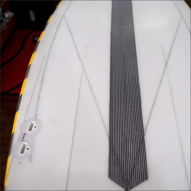 【中古】5050WaveSkates【フィフティーフィフティー】サーフボード 4'10×21×2.5 Megatron3 PU Steptail , no stringer flex systemモデル BenWei使用中古ボード