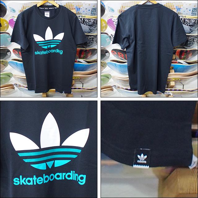adidas skateboarding【アディダス スケートボーディング】Tシャツ CLIMA TEE 3.0 (Black/Green)