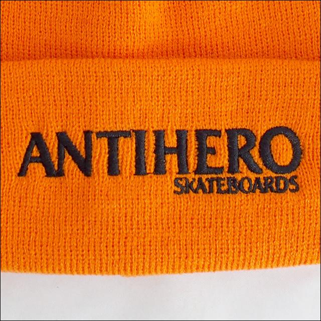 Antihero【アンタイヒーロー、アンチヒーロー】ビーニー LONG BLACKHERO BEANIE(Orange)