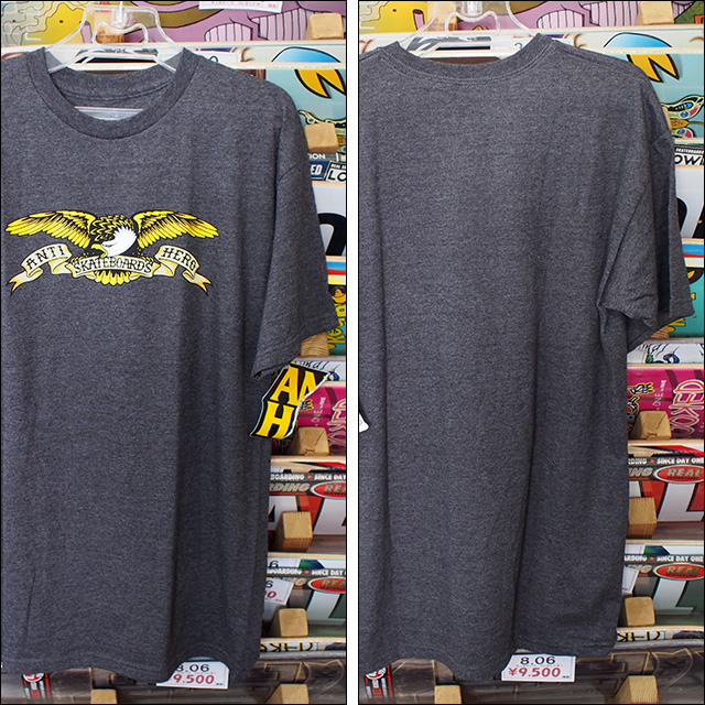 ANTIHERO【アンタイヒーロー】Tシャツ Eagle TEE (Charcoal Heather) サイズ:M