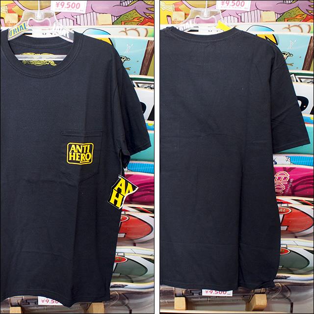 ANTIHERO【アンタイヒーロー】Tシャツ Reserve POCKET TEE (Black) サイズ:M