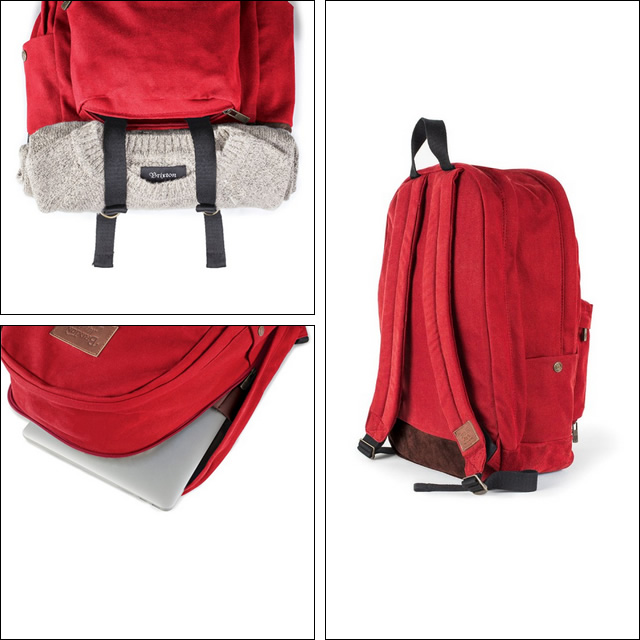 BRIXTON【ブリクストン】バックパック リュックサック Basin Backpack(Red)