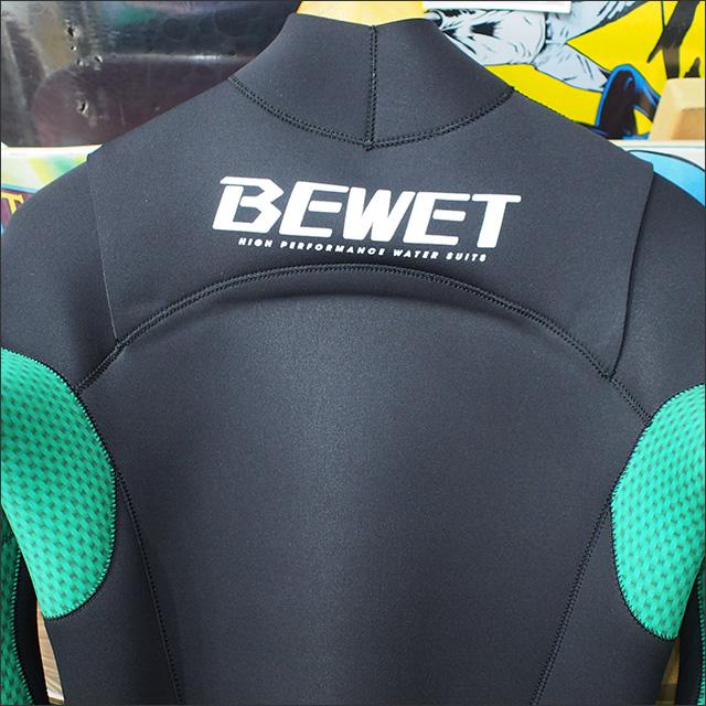 BeWET【ビーウェット】PLAYER J-FLAP ジャージフルスーツ オリジナルカラー ブラック×グリーンカーボン 3/3mm サイズ:ML