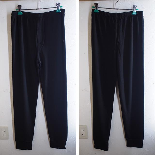 【15-16】GREEN CLOTHING【グリーンクロージング】ファーストレイヤー EZ WOOL SERIES / LONG PANT (Black)