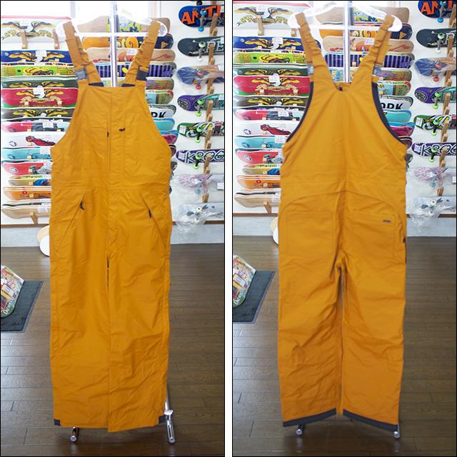 【16-17】GREEN CLOTHING【グリーンクロージング】スノーパンツ BIB PANTS(アンバー)
