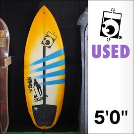 【中古】5050WaveSkates【フィフティーフィフティー】The Orbモデル サーフボード PU 5'0×20 5/8×2 1/2