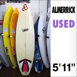 【中古】ALMERRICK【アルメリック】サーフボード 5'11×18 7/8×2 1/4 FLYERモデル