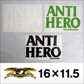 Antihero【アンタイヒーロー】ステッカー BLACKHERO 16×11.5cm