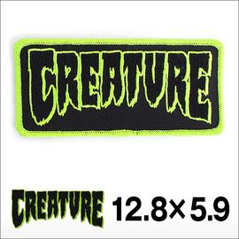 """CREATURE【クリーチャー】ワッペン DECALS CREATURE LOGO PATCH 5"""" 12.8cm×5.9cm"""