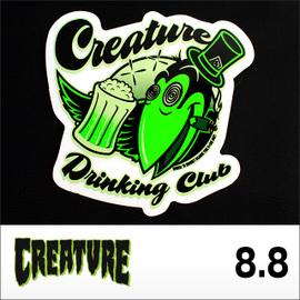 """CREATUREステッカー DRINKING CLUB 3.5"""" 8.8cm"""