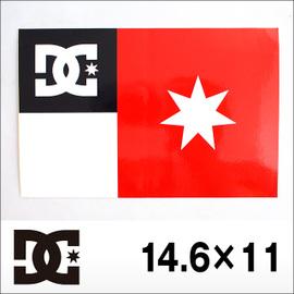 DC【ディーシー】ステッカー大 14.6×11