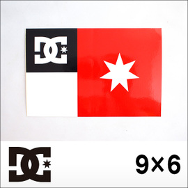 DC【ディーシー】ステッカー大 9×6