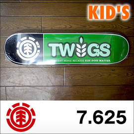 ELEMENT【エレメント】キッズデッキ TWIG SERIES KID'S DECK Twig Logo Blk 7.625×30.25