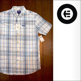 etnies【エトニーズ】半袖シャツ BAKERSFIELD black/blue