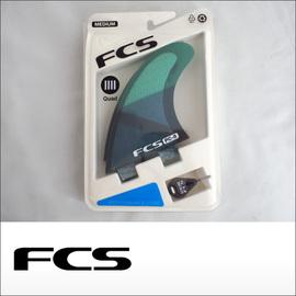 FCS【エフシーエス】クワッド用フィン PC-5 Blue Slice Quad Retail Fins