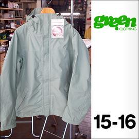 【15-16】GREEN CLOTHING【グリーンクロージング】スノージャケット FREE JACKET(Grass)サイズ:M