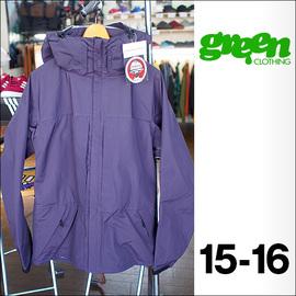 【15-16】GREEN CLOTHING【グリーンクロージング】スノージャケット HEAVY JACKET(Kuromurasaki)サイズ:L