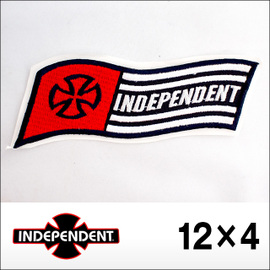 Independent【インデペンデント】ワッペン Quality Crafted 4cm×12cm