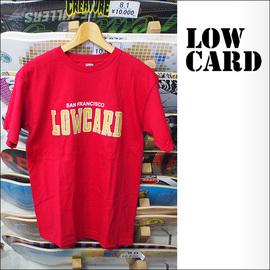 LOWCARD【ローカード】Tシャツ TEAM T (Red)サイズ:S