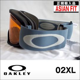 OAKLEY【オークリー】ゴーグル 02XL Black Blue Shade / Persimmon (アジアンフィット)