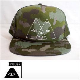 Poler Camping Stuff【ポーラーキャンピングスタッフ】メッシュキャップ VENN TRUCKER CAP(Furry Green Camo)
