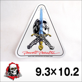 POWELL【パウエル】ステッカー Skull & Sword