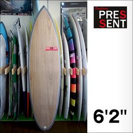 PRESSENT Surfboards【プレゼント】T-80 (シングルオンフィン+スタビ/EPS/ノーストリンガーモデル) 6.2×50×6.0