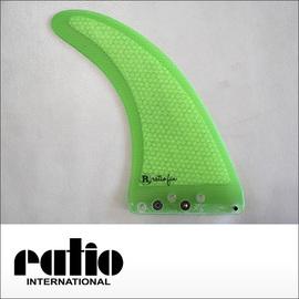 ratio【レイシオ】ロングボード用フィン RST-03 7.0 エフェクトシステム(蛍光グリーンメッシュ)