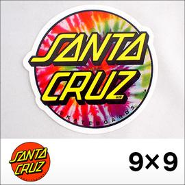 "SANTACRUZ【サンタクルズ】ステッカー TIE DYE DOT 3"" 9×9"