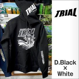 TRIAL【トライアル】パーカー 2015-SSS(Dark Black×White)