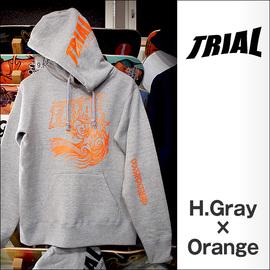 TRIAL【トライアル】パーカー 2015-SSS(HeatherGray×Orange)
