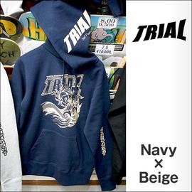 TRIAL【トライアル】パーカー 2015-SSS(Navy×Beige)