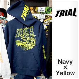 TRIAL【トライアル】パーカー 2015-SSS(Navy×Yellow)