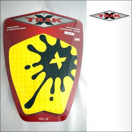 X-TRAK【エックストラック】デッキパッド SPLAT YEL/BK