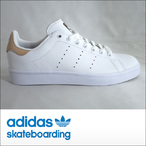 adidas skateboarding【アディダス スケートボーディング】スケシュー STAN SMITH  VULC スタンスミス (WHT/GOLD)