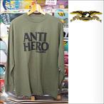 Antihero【アンタイヒーロー】ロンT Blackhero (Olive) サイズ:M