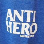 ANTIHERO【アンタイヒーロー】Tシャツ Lil Blackhero TRI BLEND TEE (Royal Heather) サイズ:M