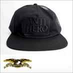 Antihero【アンタイヒーロー】メッシュキャップ RESERVE TRUCKER Cap(Black×Black Emb)