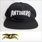 Antihero【アンタイヒーロー】メッシュキャップ SKATE CO.SNAPBACK Cap(Black)