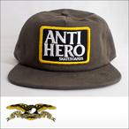 Antihero【アンタイヒーロー】キャップ Unstructured Snapback Basic Eagle(Brown)