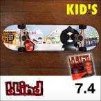 bLind【ブラインド】kids コンプリート スケートボード North Park 7.4(DVD付)