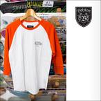 BRIXTON【ブリクストン】ラグラン BORREGO 3/4スリーブTシャツ (White/Burnt Orange) サイズ:S