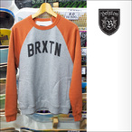 BRIXTON【ブリクストン】トレーナー HAMILTON II CREW FLEECE (HeatherGray/Orange) サイズ:XS