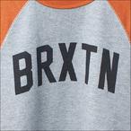BRIXTON【ブリクストン】トレーナー HAMILTON II CREW FLEECE (HeatherGray/Orange) サイズ:XS