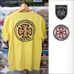 BRIXTON【ブリクストン】×INDEPENDENT【インデペンデント】コラボ プレミアムポケットTシャツ FILLMORE S/S (Washed Yellow) サイズ:S
