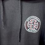 BRIXTON【ブリクストン】×INDEPENDENT【インデペンデント】コラボ Tシャツ RAYMOND S/S HOOD (Washed Black) サイズ:S