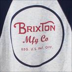 BRIXTON【ブリクストン】トレーナー WHEELER CREW FLEECE (HeatherBlue/Navy) サイズ:S