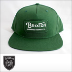 BRIXTON【ブリクストン】キャップ GRADE SNAPBACK(Green/White)