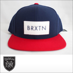 BRIXTON【ブリクストン】キャップ RIFT SNAPBACK CAP (Navy/Red)