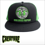 CREATURE【クリーチャー】メッシュキャップ FIRST AID CAP(Black/Forest)